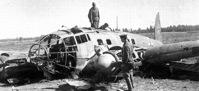 Немецкий самолёт, сбитый в Озёрском районе
