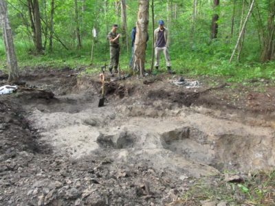 Найдено место падения немецкого самолёта в окрестностях деревни Паткино