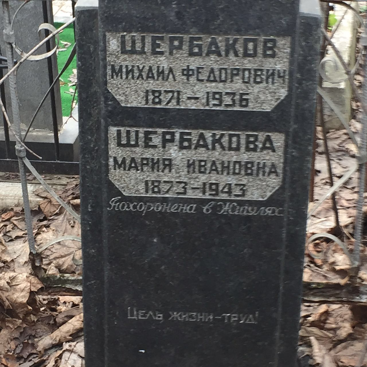 Могила М.Ф.Щербакова