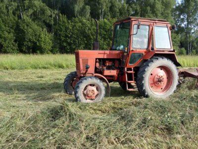 Ворошение и заготовка сена в Паткино