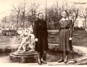 1958 год. Фонтан в саду Дворца культуры