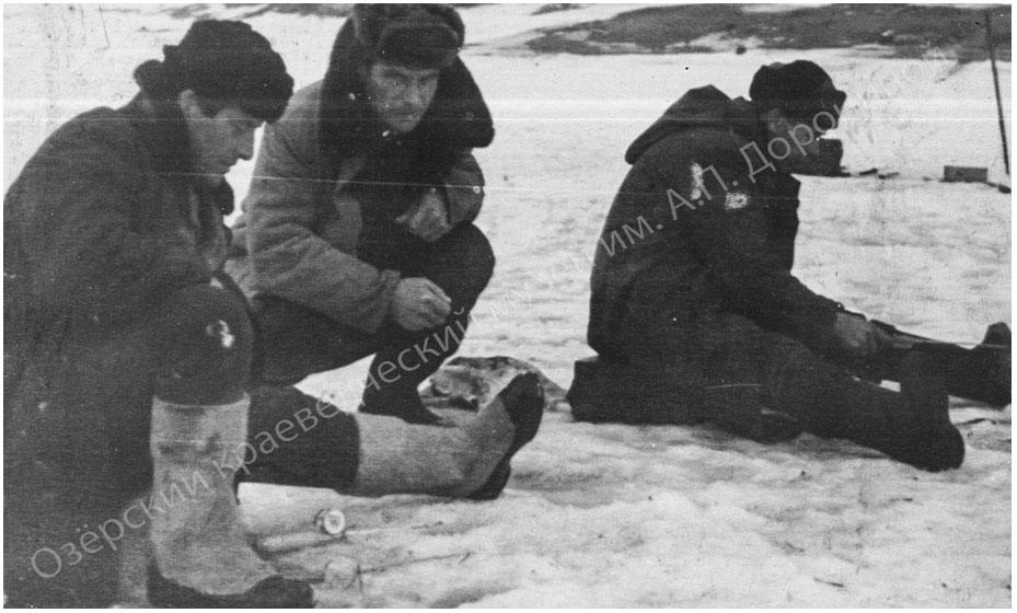Рыбаки на Песочном озере