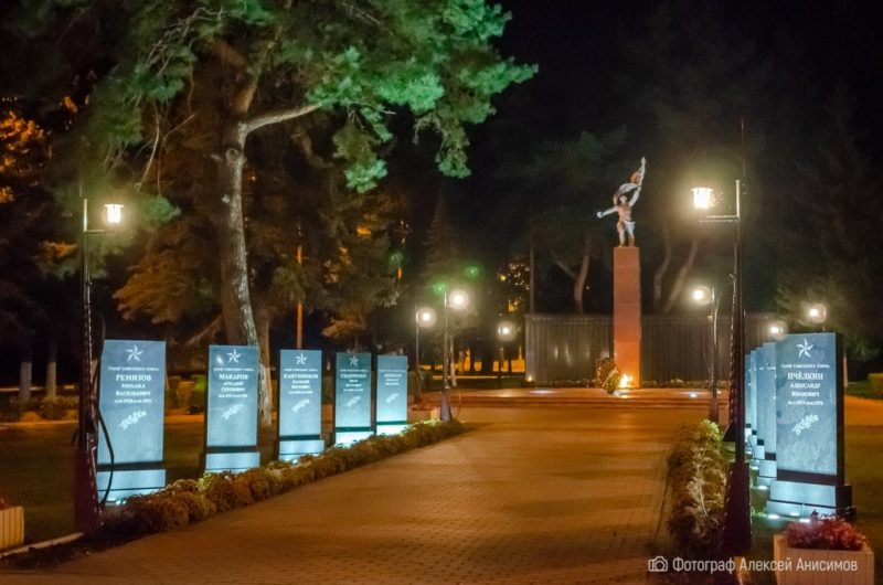 По ночному городу Озёры вместе с фотографом Алексеем Анисимовым