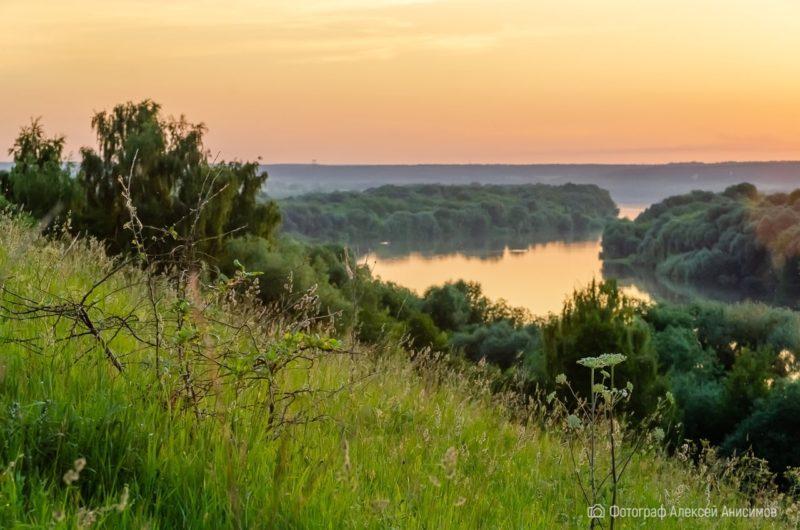 Закат на Оке в объективе фотографа Алексея Анисимова
