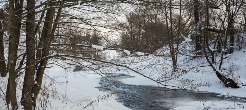 Зимние пейзажи реки Смедвы и окрестностей