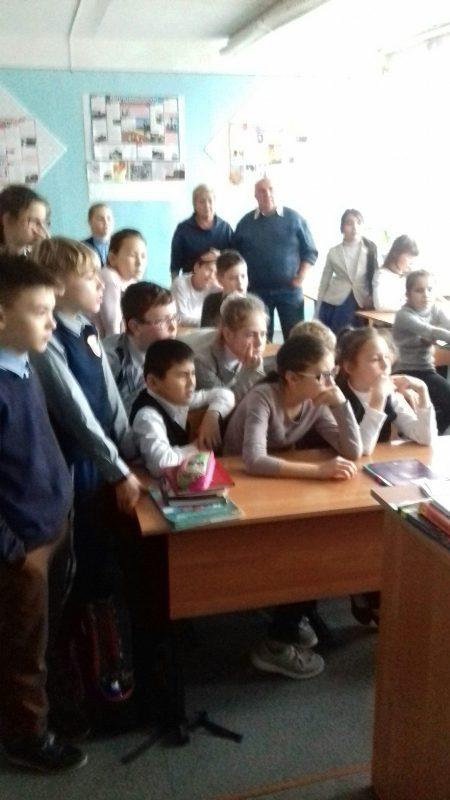Краевед Харитонов в Озёрской гимназии №4