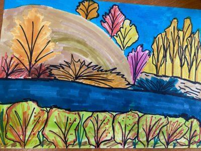 Конкурс детского рисунка «Уж небо осенью дышало…» близится к финалу